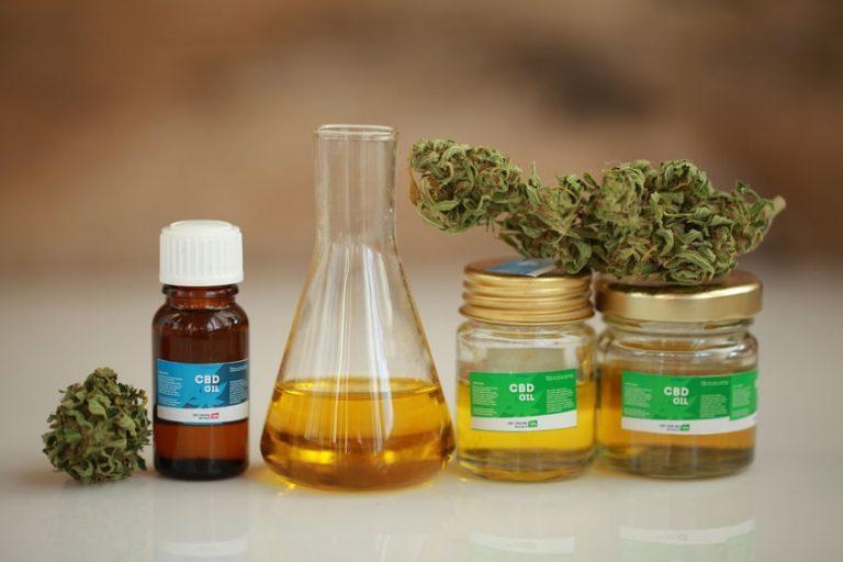Diferentes presentaciones del aceite de cañamo