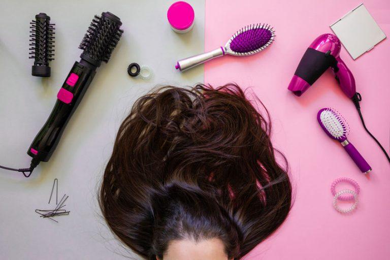 Mujer con cabello largo