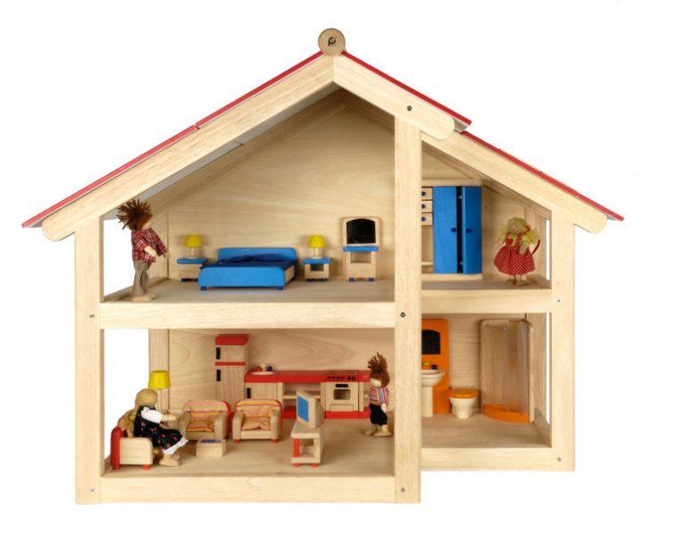 Casa de muneca de madera