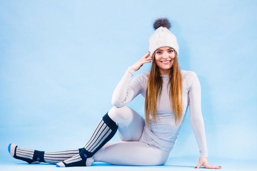 chica con ropa termica