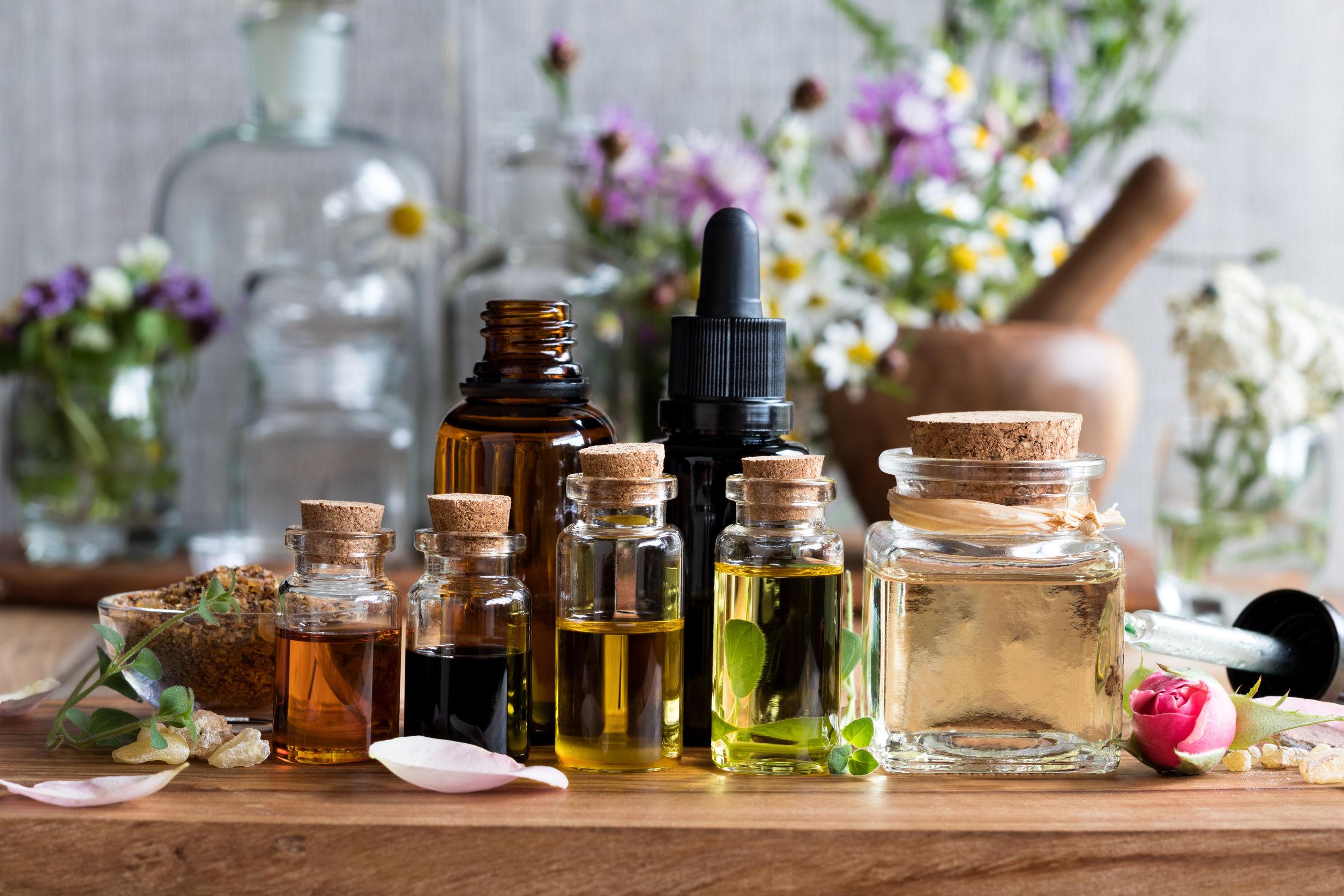 aceites esenciales de diferentes