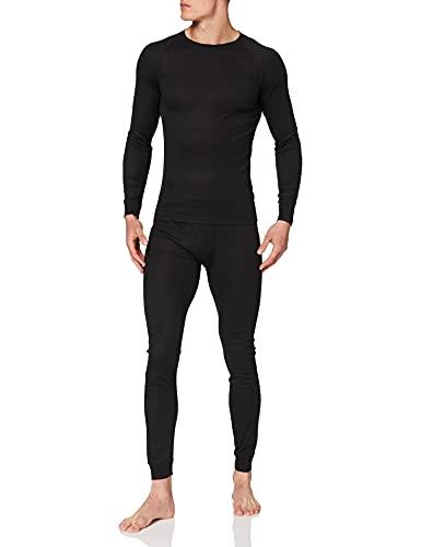 Ultrasport Thermal Underwear Set Conjunto, Hombre, Negro, XL